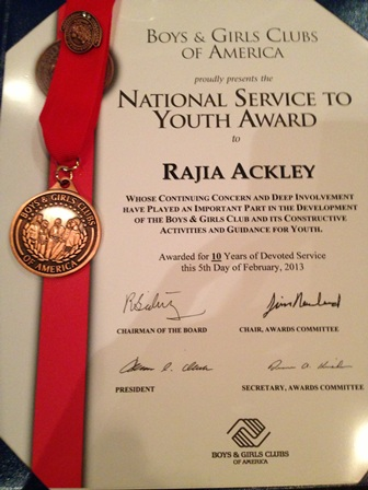 National Service Award Rajia