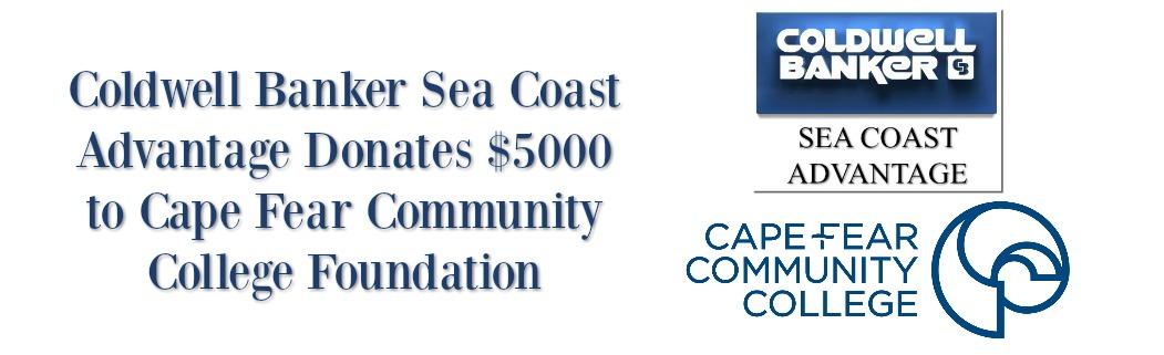 Sea Coast Advantage Donates 5000 to Cape Fear Community College
