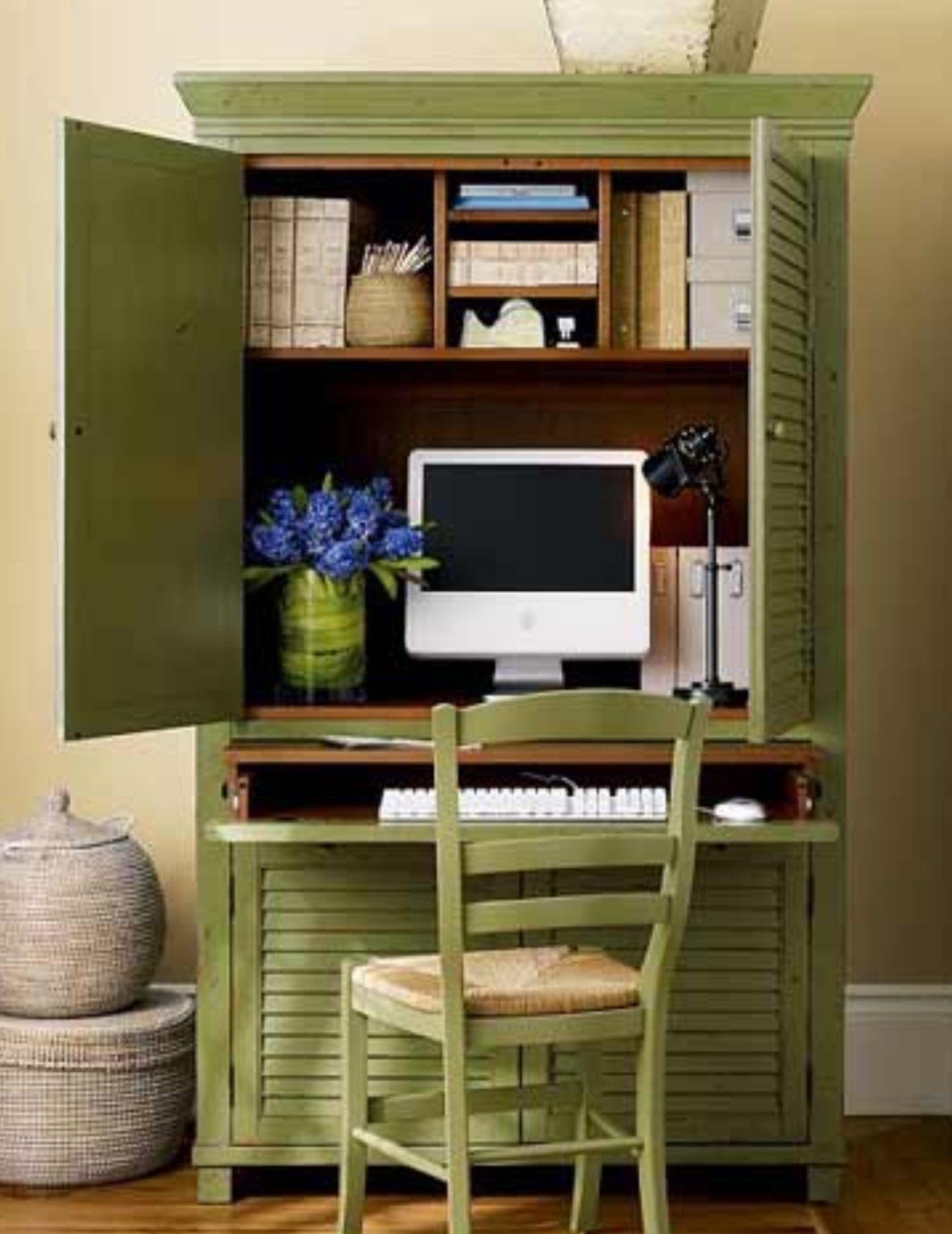 As Long As Youu0027ve Got Some Space For The Doors To Open, You Can Locate Your  Office Anywhere An Armoire Will Fit! Check Out How These Armoires Were ...